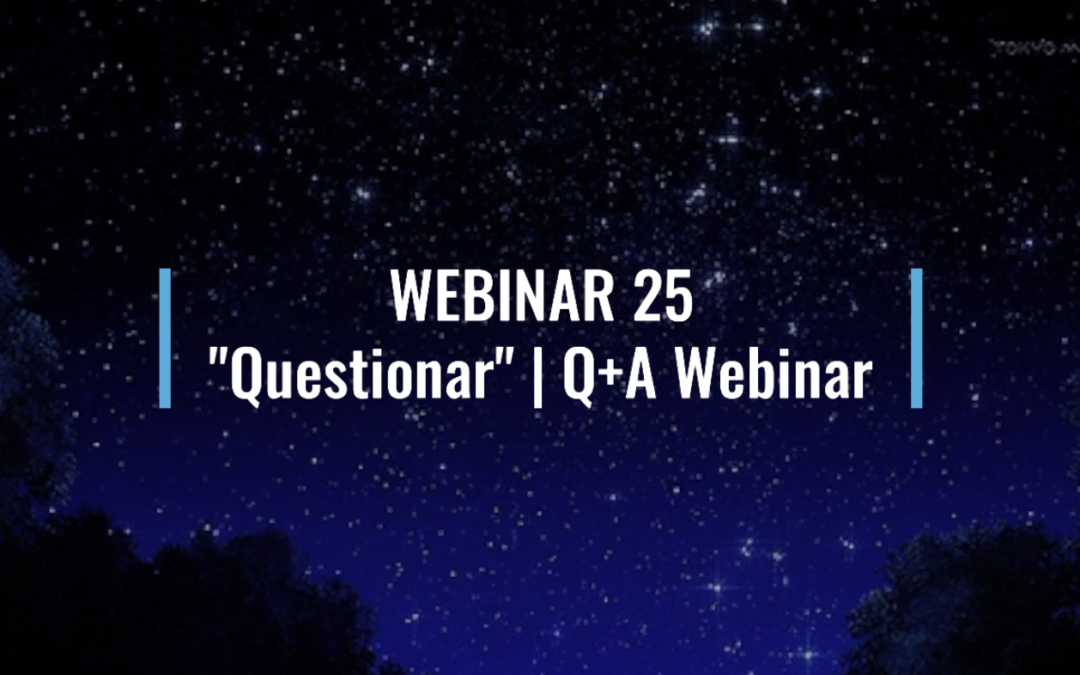 "Webinar 25: ""Questionar"" 