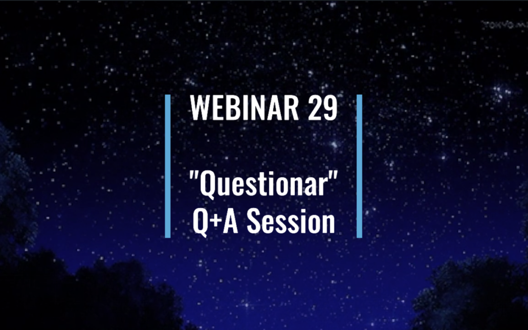 "Webinar 29: ""Questionar"" 