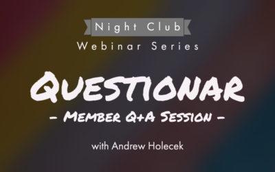 Webinar 33 | Q+A Session