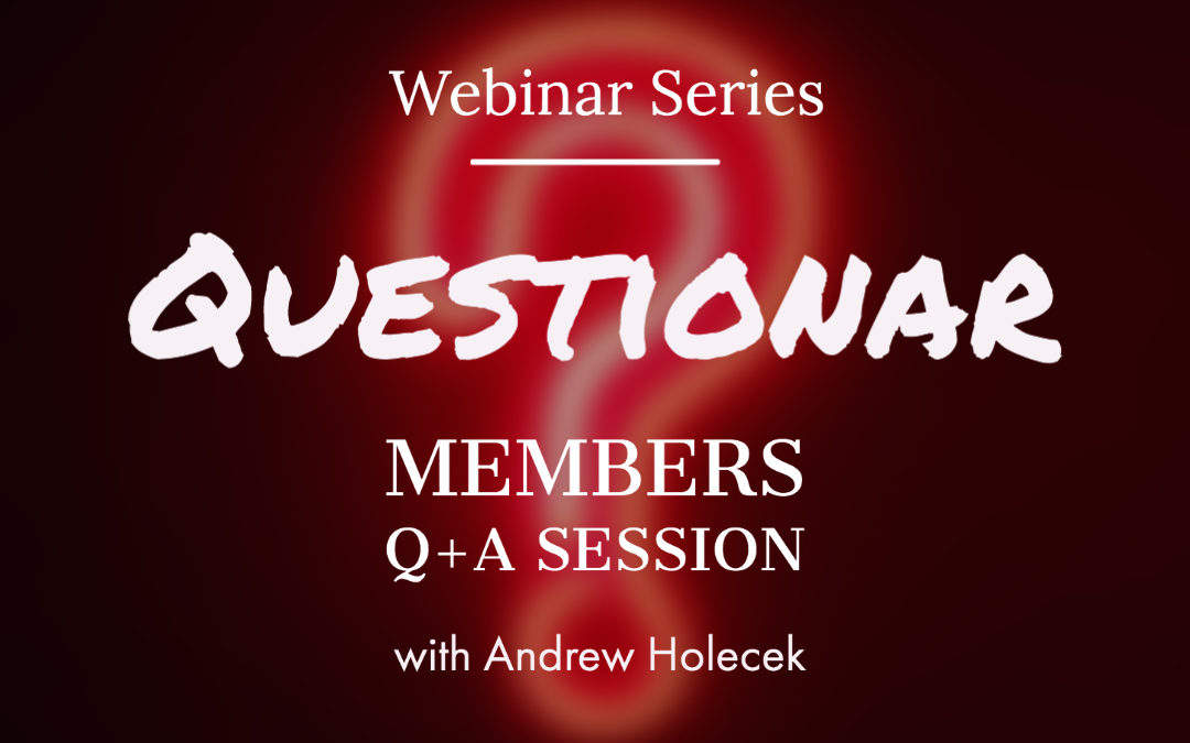 "Webinar 37: ""Questionar"" Q+A Session"